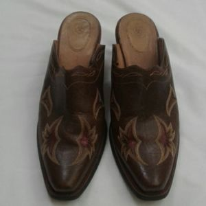Ariat Brown Mules Leather Shoes Women's size 10 B